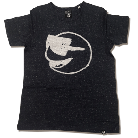 Heren Tshirt Dark Heather denim