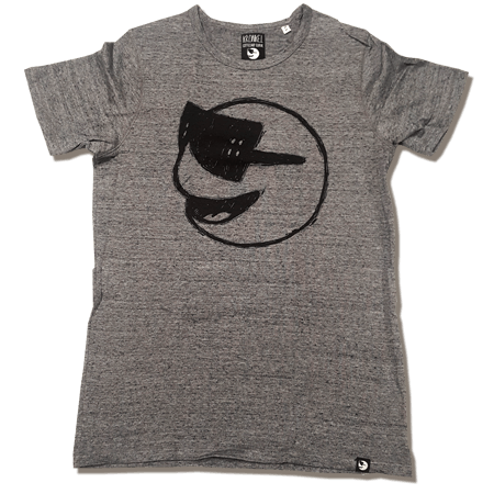 Heren Tshirt Heather Charcoal